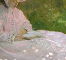 Claude Monet - Springtime (1872) Sticker