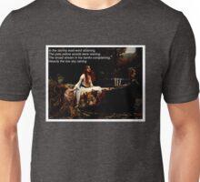 Lady of Shalott with Poem Unisex T-Shirt