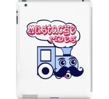 Mustache Rides iPad Case/Skin