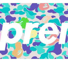 Supreme X Rainbow bape Camo Sticker