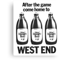 FOOTY AND WEST END Canvas Print