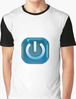 Geek Power Button Graphic T-Shirt