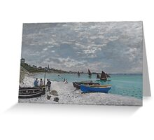 Claude Monet - The Beach at Sainte-Adresse (1867) Greeting Card