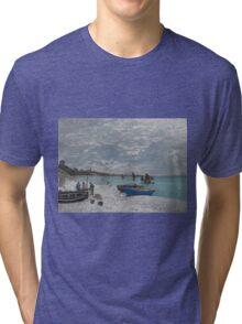 Claude Monet - The Beach at Sainte-Adresse (1867) Tri-blend T-Shirt