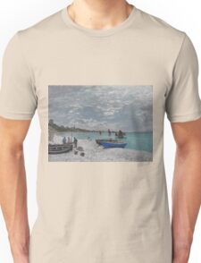 Claude Monet - The Beach at Sainte-Adresse (1867) Unisex T-Shirt