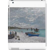 Claude Monet - The Beach at Sainte-Adresse (1867) iPad Case/Skin