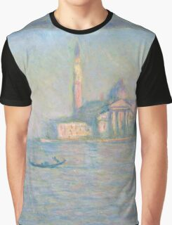 Claude Monet - The Church of San Giorgio Maggiore, Venice Graphic T-Shirt