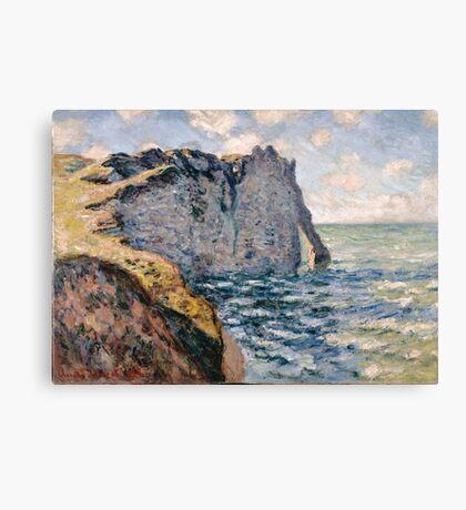 Claude Monet - The Cliff of Aval Etrétat, Impressionism Canvas Print