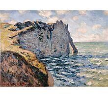 Claude Monet - The Cliff of Aval Etrétat Photographic Print