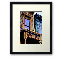 Grand Dame With Old Blue Framed Print