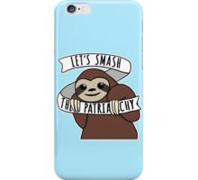 "Feminist Sloth ""Smash the Patriarchy"" iPhone Case/Skin"