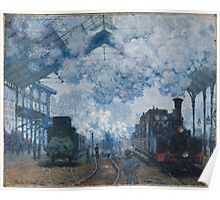Claude Monet - The Gare Saint-Lazare Arrival of a Train (1877) Poster
