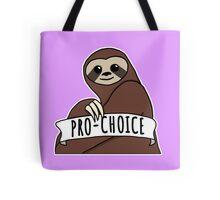 "Feminist Sloth ""Pro-Choice"" Tote Bag"