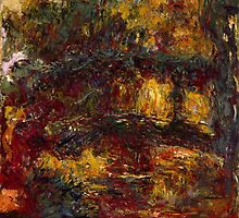 Claude Monet - The Japanese Footbridge  Giverny by famousartworks