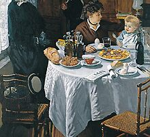 Claude Monet - The Luncheon (1868) by famousartworks