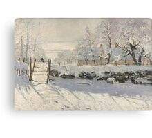 Claude Monet - The Magpie (1868 - 1869) Canvas Print