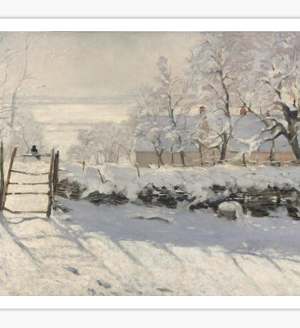 Claude Monet - The Magpie  Impressionism Sticker