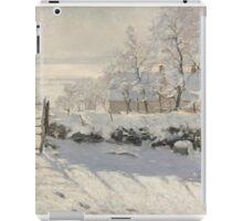 Claude Monet - The Magpie  Impressionism iPad Case/Skin