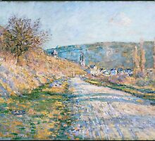 Claude Monet - The Road to Vétheuil (1879) by famousartworks
