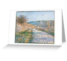 Claude Monet - The Road to Vétheuil (1879) Greeting Card