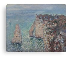 Claude Monet - The Rock Needle and the Porte d'Aval (1886) Canvas Print