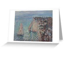 Claude Monet - The Rock Needle and the Porte d'Aval Impressionism Greeting Card