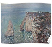 Claude Monet - The Rock Needle and the Porte d'Aval (1886) Poster