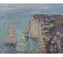 Claude Monet - The Rock Needle and the Porte d'Aval (1886) Photographic Print