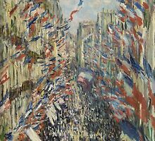 Claude Monet - The Rue Montorgueil in Paris. Celebration of June 30 by famousartworks