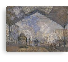 Claude Monet - The Saint-Lazare Station (1877) Canvas Print