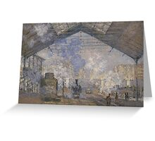 Claude Monet - The Saint-Lazare Station (1877) Greeting Card