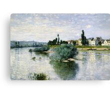 Claude Monet - The Seine at Lavacourt (1880) Canvas Print