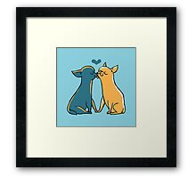 Chihuahua Kisses Framed Print