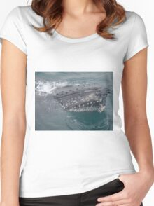 Humpback Whale Women's Fitted Scoop T-Shirt