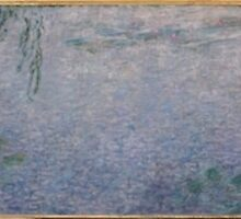Claude Monet - The Water Lilies - Clear Morning with Willows (1915 - 1926) by famousartworks