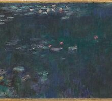 Claude Monet - The Water Lilies - Green Reflections (1915 - 1926) by famousartworks
