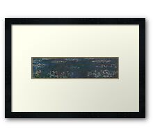 Claude Monet - The Water Lilies - Green Reflections  Impressionism. Framed Print