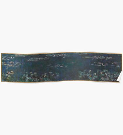 Claude Monet - The Water Lilies - Green Reflections  Impressionism. Poster