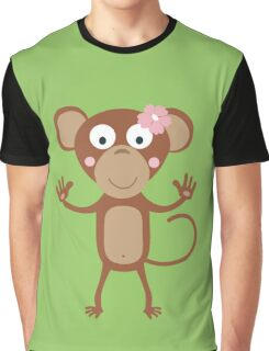 female monkey with flower  Graphic T-Shirt