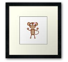 female monkey with flower  Framed Print