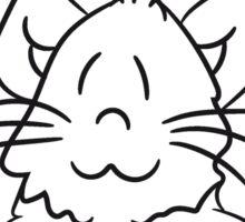 sign text umrandung frame wall hiding sweet cute kitten fluffy fur Sticker