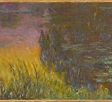 Claude Monet - The Water Lilies - Setting Sun (1915 - 1926) by famousartworks