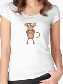 amorous female monkey  Women's Fitted Scoop T-Shirt