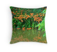 Wild Tiger Daylilies Orange Throw Pillow
