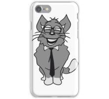 nerd geek hornbrille tie clever funny iPhone Case/Skin