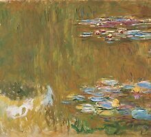 Claude Monet - The Water-lily Pond (1914-1917) by famousartworks