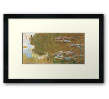 Claude Monet - The Water-lily Pond (1914-1917) Impressionism Framed Print