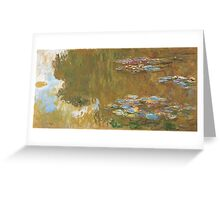 Claude Monet - The Water-lily Pond (1914-1917) Greeting Card