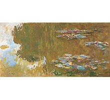 Claude Monet - The Water-lily Pond (1914-1917) Impressionism Photographic Print