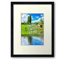 Home Sweet Home Pastoral Versailles Chateau Country Landscape Framed Print